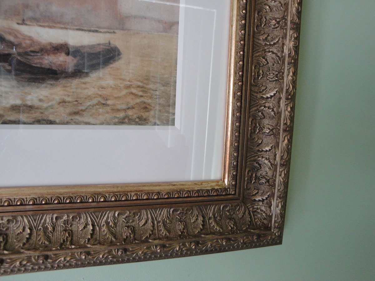 Gilt frame on 19thc painting