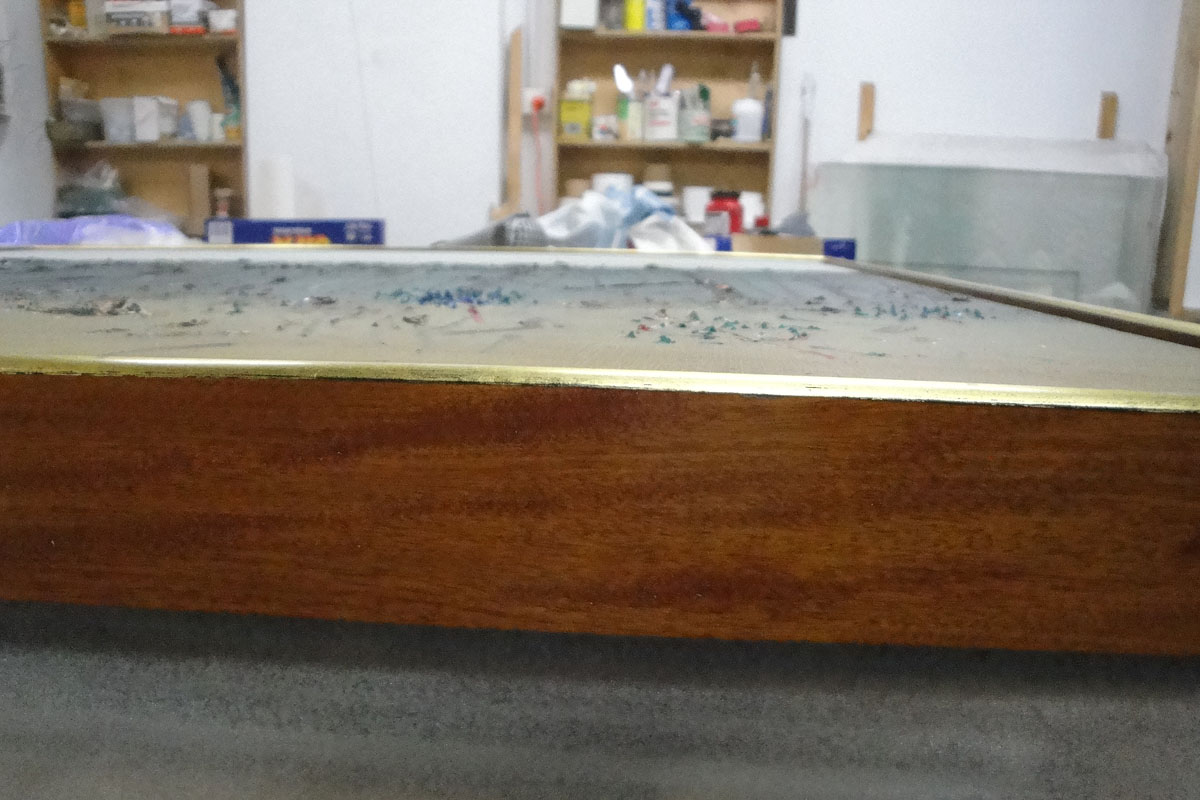 Edge of frame for Fred Williams painting