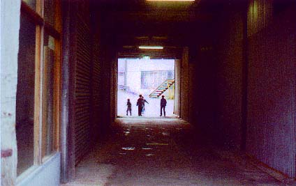 Boys playing in the tunnel