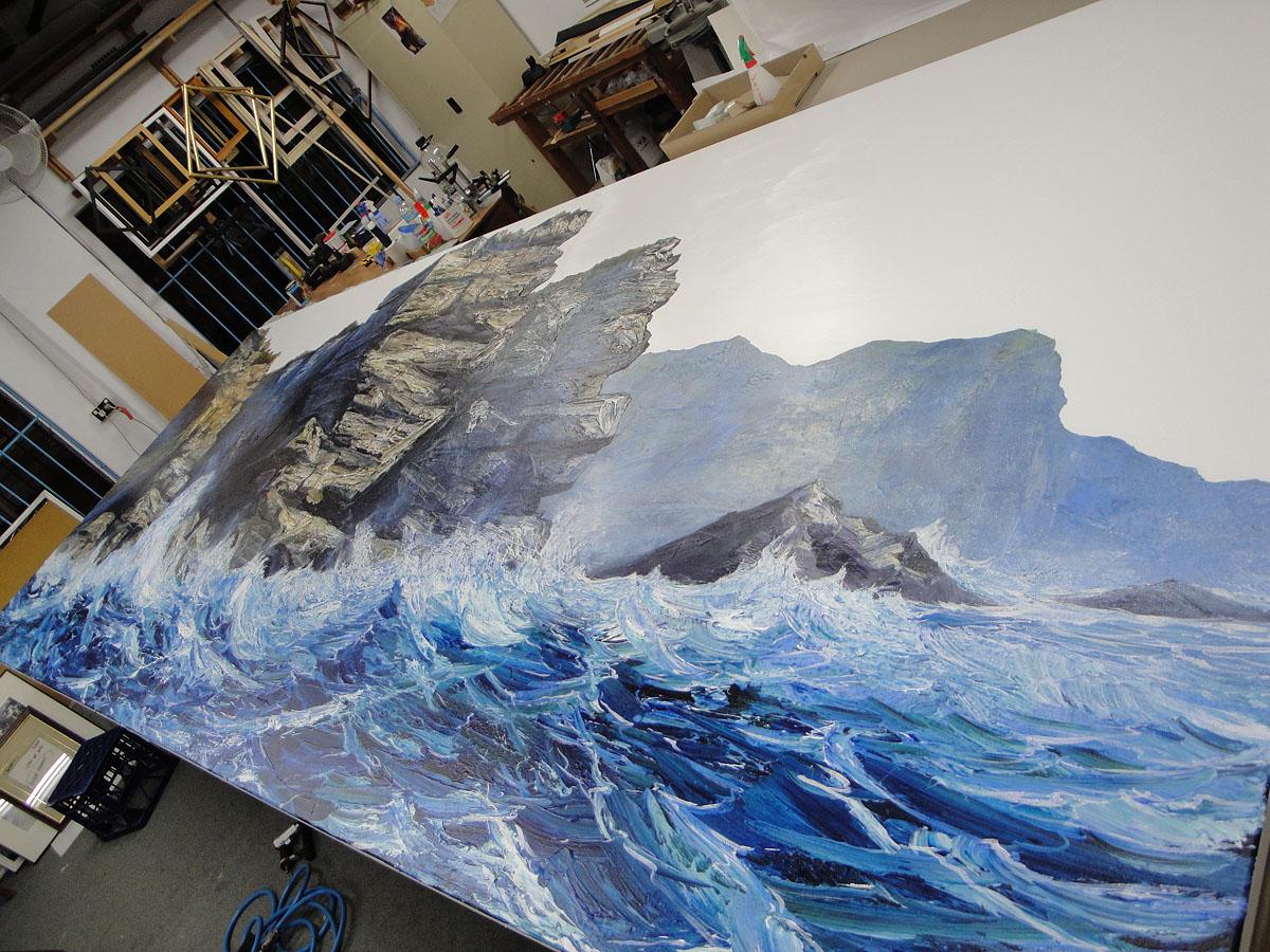 Neil Frazer painting, diptych, 5.4m x 2m