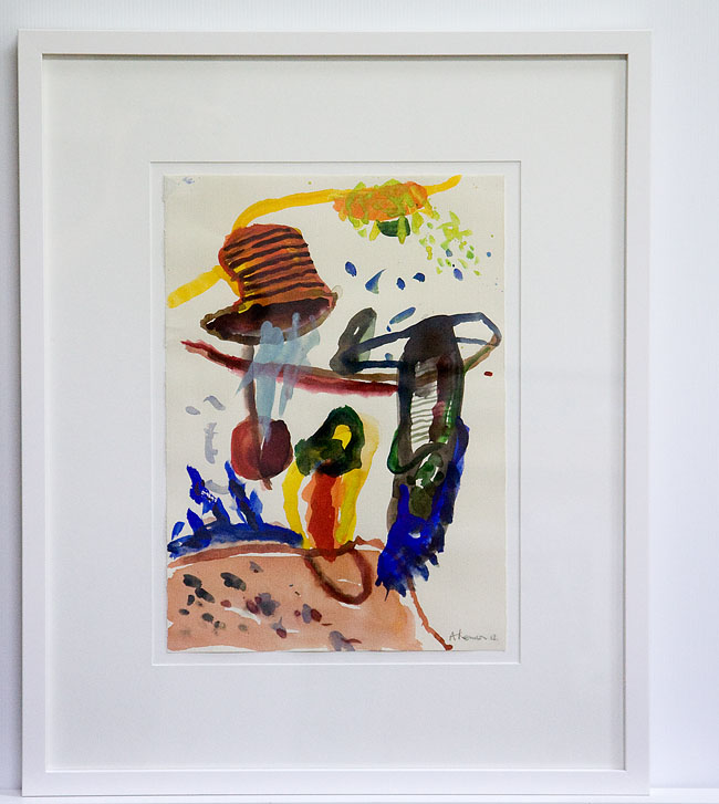 Acrylic on paper in white matt and frame