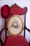 19th century pencil portrait in gilt frame