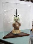 Thursday Island ceramic figure in display case