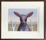 Fluffy the slightly pink kangaroo by Reg Mombassa