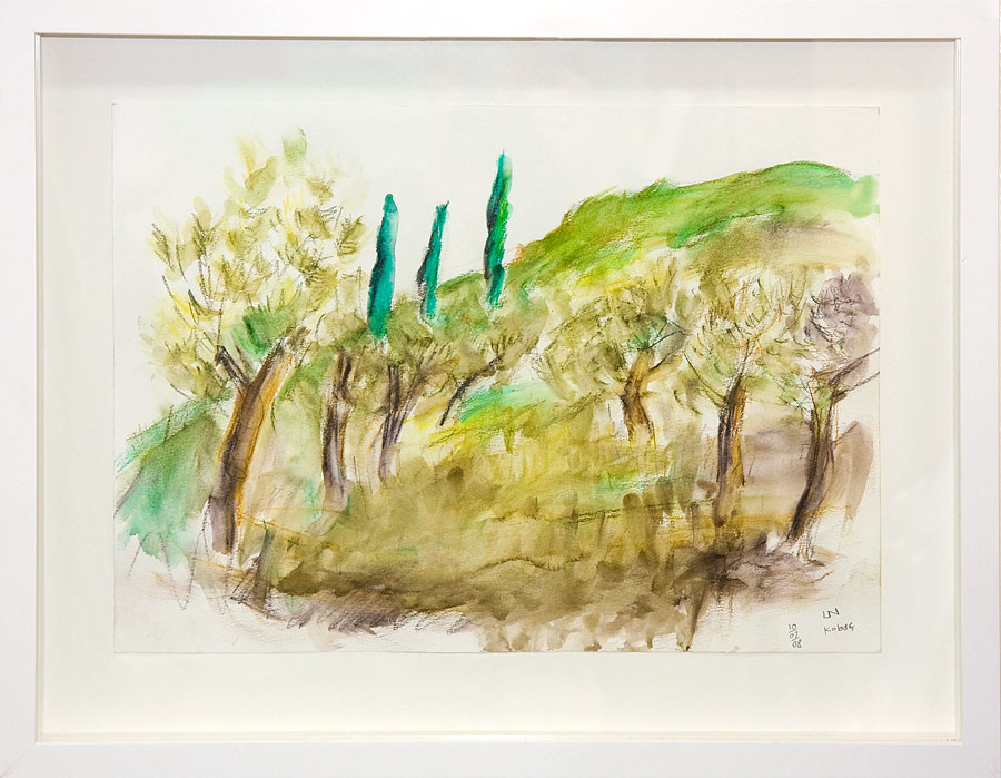 Lawrence Neild watercolour in box frame