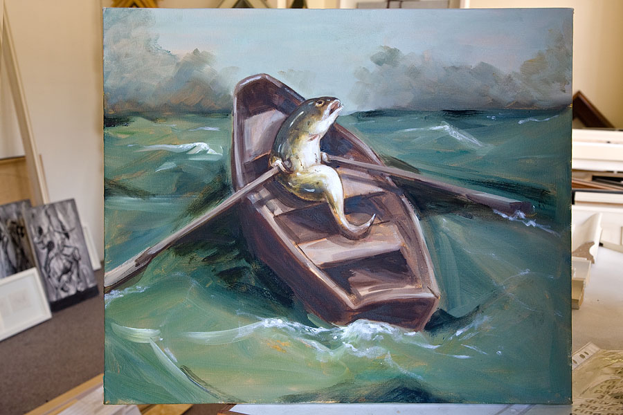 Oil on canvas by Joanna Braithwaite to be framed
