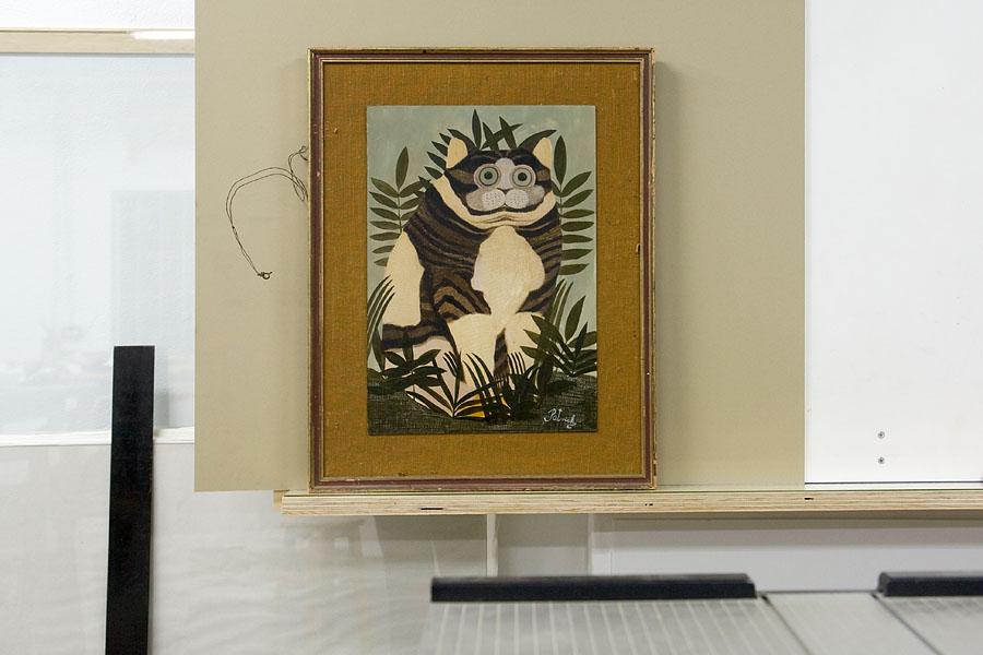 Oil on card by London artist John Byrne (Patrick) to be framed