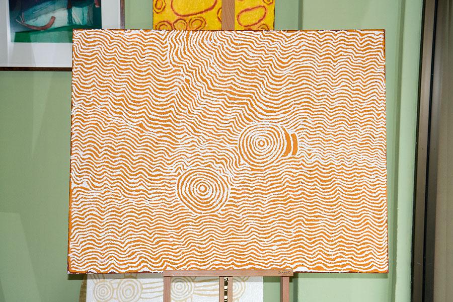 Painting by Nanyuma Napangati