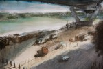 Under the Anzac Bridge by Russell Carey – detail